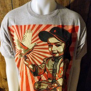 Classic Obey Girl with Dove T shirt Sz. L